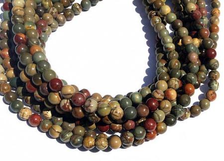 70 Natural Red Creek Jasper round Gemstone beads