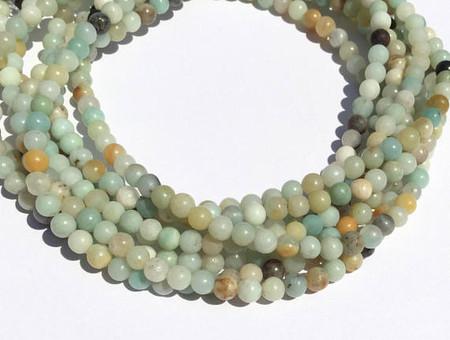 4.5mm Natural Round Amazonite Gemstone beads