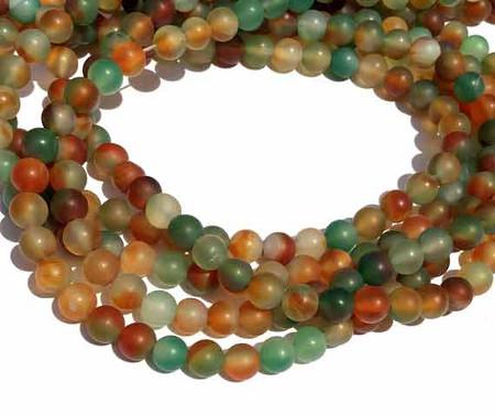 6mm Natural Round matte Amazonite Gemstone beads