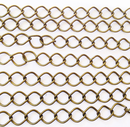 """36"""" Antique Brass plated Curb Chain"""