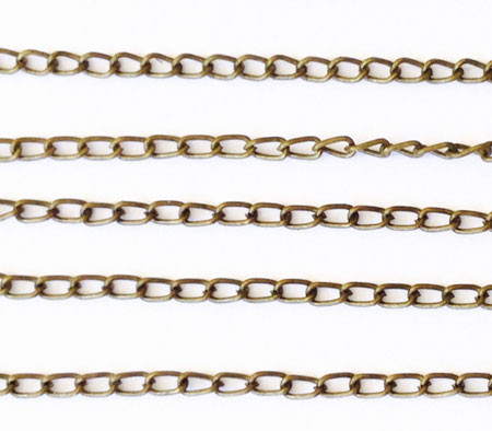 "36"" Antique Brass plated Oval Chain"