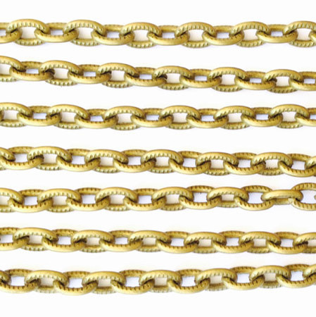 """36"""" Antique Brass plated Aluminum Cable Chain"""