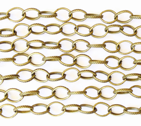 "36"" Antique Brass plated Oval Link Chain"