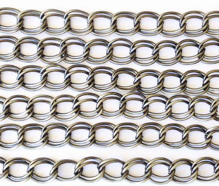 """36"""" Antique silver plated Double Oval Link Chain"""