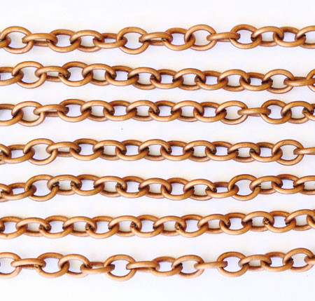 """36"""" Antique Copper plated Cable Chain"""