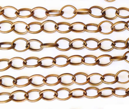 """36"""" Antique Copper plated Oval Link Chain"""