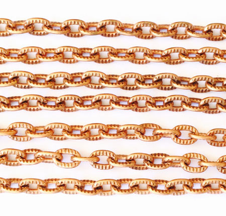 "36"" Antique Copper plated Aluminum Cable Chain"