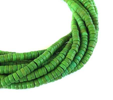 154 Fine Green Turquoise Heishi Gemstone beads Jewelry Supply
