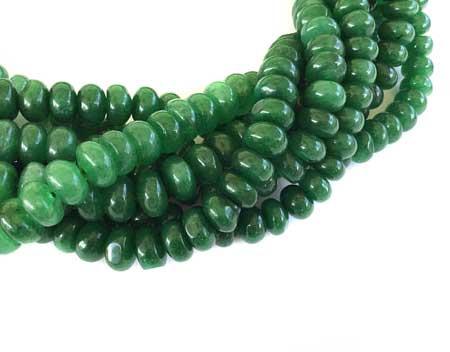 80 Fine Green Jade rondelle Gemstone beads Stone