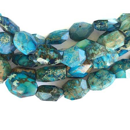 Fine faceted Blue Impression Jasper Gemstone beads Stone