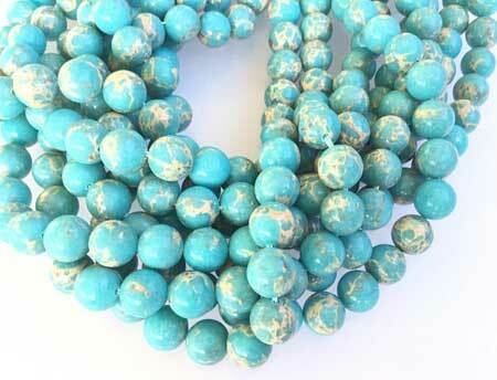 10mm Fine Light Blue Impression Jasper Gemstone beads Stone