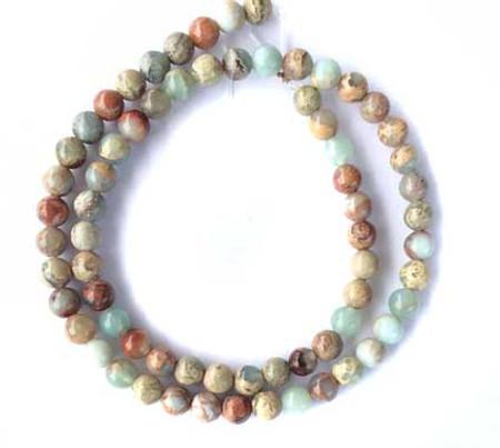 Fine African Opal round Gemstone beads 6mm Stone