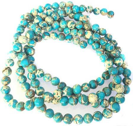 10mm Fine round Light Blue Impression Jasper Gemstone beads