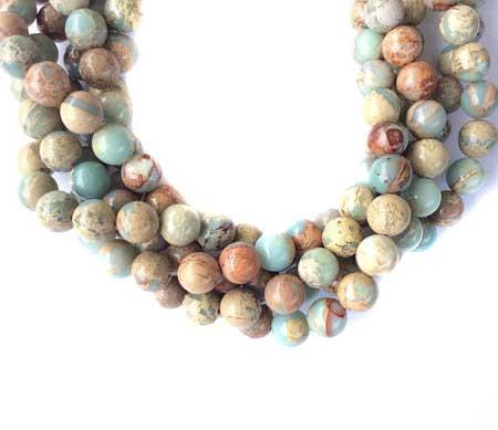 10mm Light Blue Impression Jasper Gemstone beads Stone