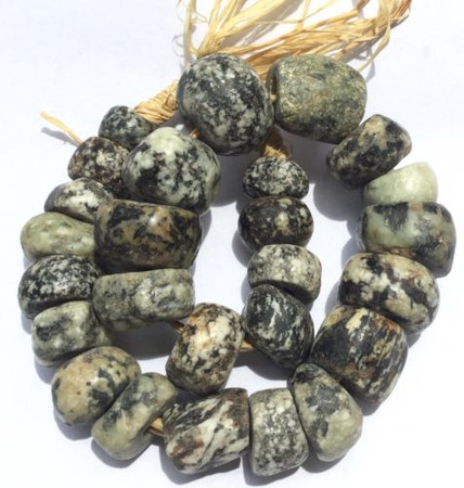 Antique African Dogon Mali stone Trade Beads