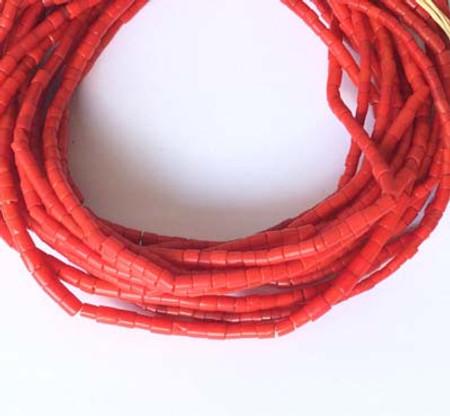 256 Vintage Asafo mountain man Ghana Crimson Red African beads