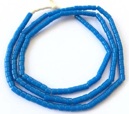 178 Nice Opaque Blue Bohemian Glass African trade beads