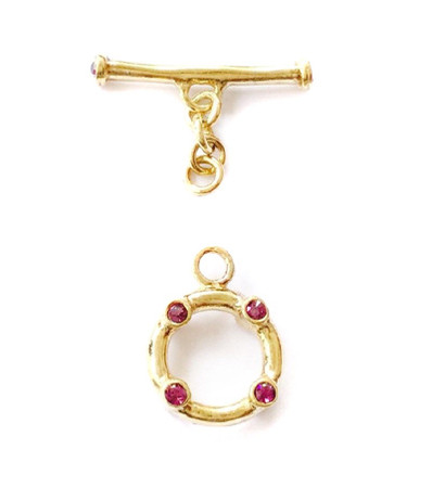 3-Strand-Gold Vermeil Toggles