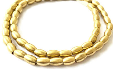 Fine authentic oval Brass ethnic metal spacer beads