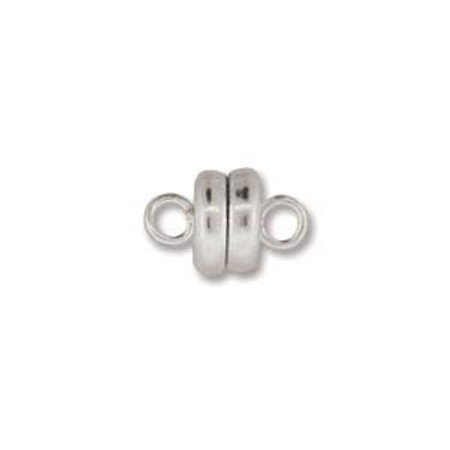 6 Silver plated Strong magnetic Clasps 6mm