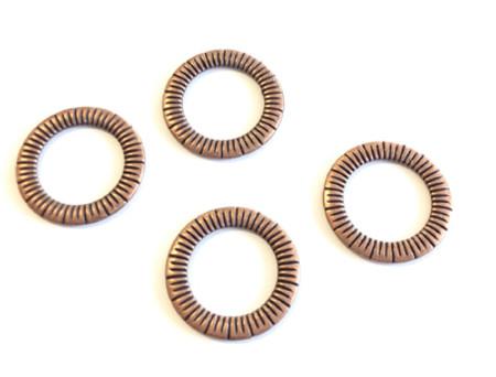 4PCS closed Antique antique copper decorative Ring- 25mm