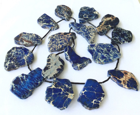 Blue Gem Impression Jasper Gemstone beads Stone Slabs