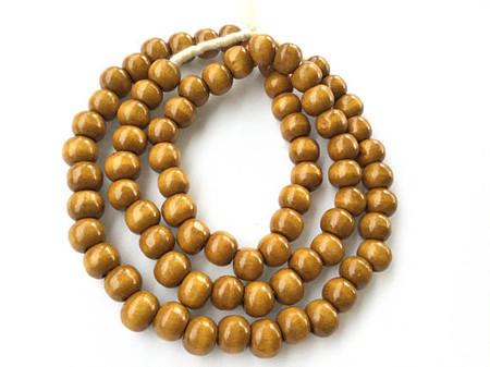 49 Natural hand carved brown Round Sese wood Beads Jewelry supplies