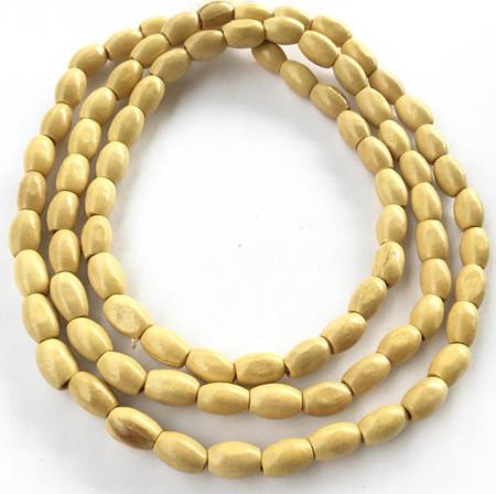 Natural Rosewood Oval Beads Natural Light teak Plantation color