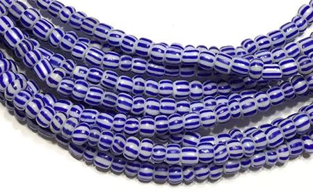 Ghana Blue Ghana seed Beads Glass African Trade Beads