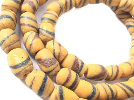 Antique African Ghana Krobo powderglass trade bead