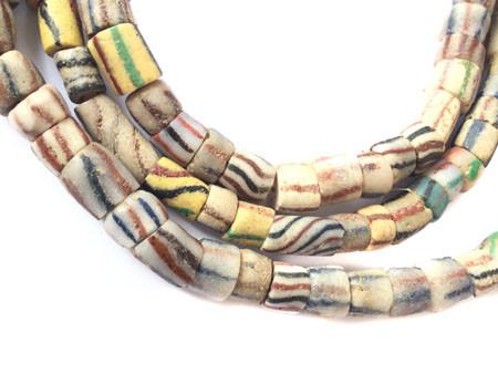Od Antique African Ghana Krobo powderglass trade beads