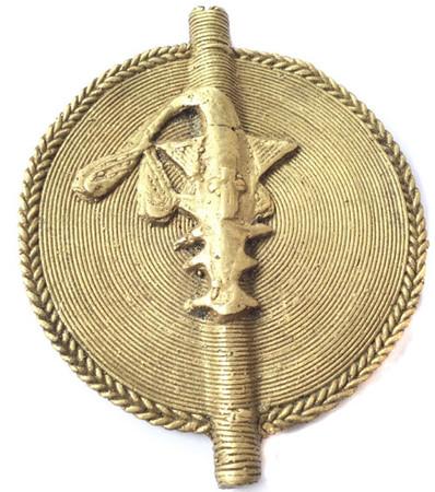 African Lobi tribe handmade brass Pendant- Otumi African Brass Pendante bead pendant