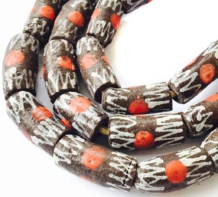 Ghana Handmade Recycled Glass Banded Zen African Trade Beads