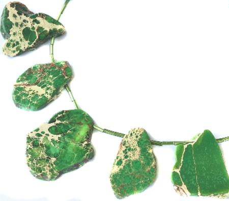 Green Gem Impression Jasper Gemstone beads Stone Slabs