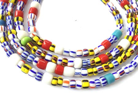 Multi color Ghana seed Beads