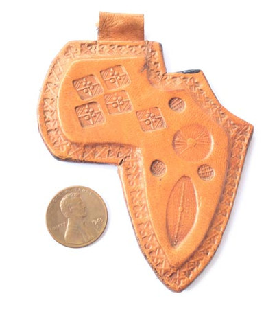 Genuine Niger African handmade Ethnic Real Leather pendant Jewelry Supplies