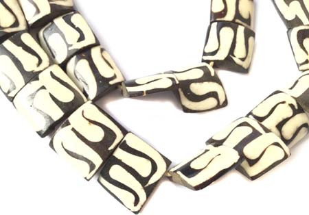 African Zen design batik bone trade beads