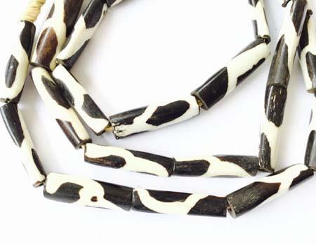 African batik bone beads