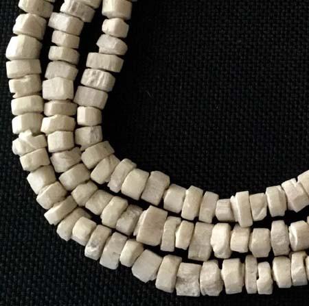 Strand of Nigerian Camel Bone Beads African trade Beads