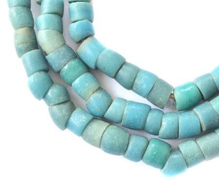 Krobo Antique African Powderglass trade beads