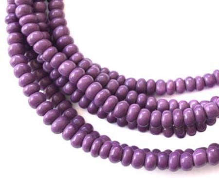 Venetian Opaque Purple glass beads African Trade Beads [3084]