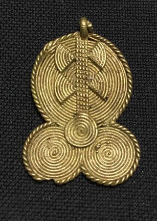 African authentic handmade brass trade bead