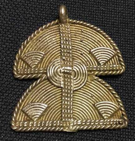 authentic African handmade brass trade bead pendant