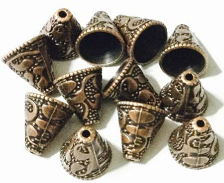 Antique Copper Decorative metal Cone-16PCS Jewelry Supplies
