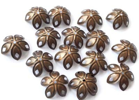 Details about  24PCS Fancy Leafs Antique Copper light weight Bead Caps Beading Supplies