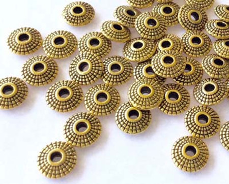 24 Gold plated 8mm bead Spacers