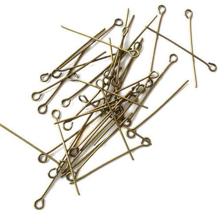 100PCS Antique brass 20GA Short Eye Pins-Rosary Findings