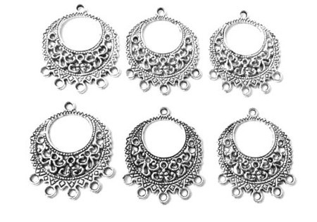 10PCS Antique Silver Earring findings