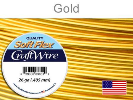 Soft Flex Gold SiIver Plated 26ga 15yd Craftwire