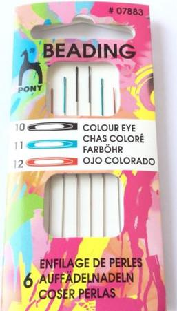 Color Eye Pony Beading Size 10-12 Beading Needles Quality-Beading Supplies
